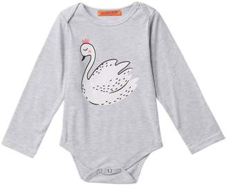 Funkyberry Swan Bodysuit (Baby & Toddler Girls)