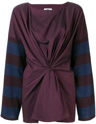 MM6 MAISON MARGIELA knot detail blouse