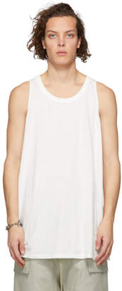 Rick Owens White Loose Tank Top