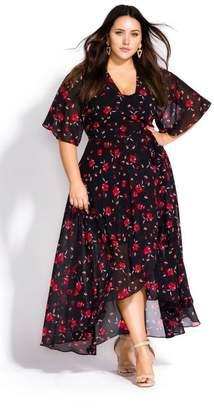 City Chic Citychic Fall In Love Dress - black