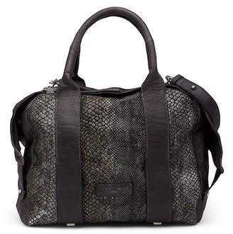Liebeskind Berlin Snake Embossed Leather Satchel