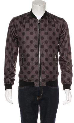 Dolce & Gabbana Reversible Polka Dot Bomber Jacket