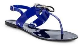 Tahari Jay Bow Rubber Thong Sandals