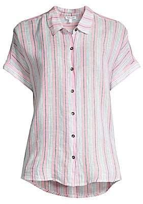 Splendid Women's Canyon Striped Tie-Front Shirt