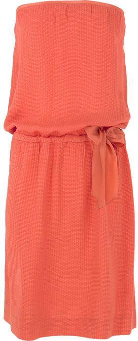 Vanessa Bruno Athé Strapless silk-jacquard dress