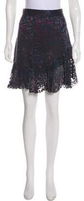 IRO Sheer Knee-Length Skirt Black Sheer Knee-Length Skirt