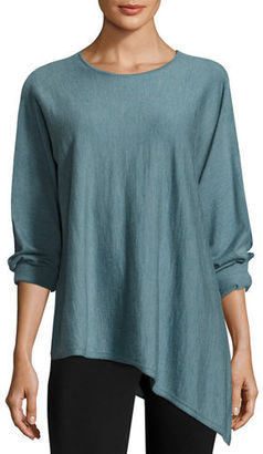 Eileen Fisher Asymmetric Featherweight Cashmere Tunic $348 thestylecure.com
