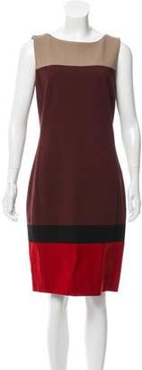 Akris Punto Sleeveless Colorblock Dress