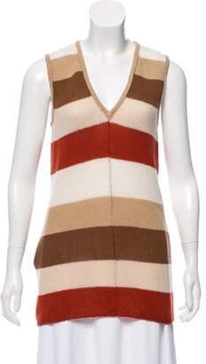 Prada Striped Cashmere Top