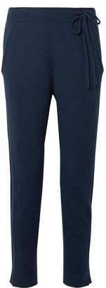 Akris Cashmere-blend Felt Track Pants - Blue