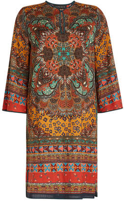 Etro Printed Wool Mini Dress
