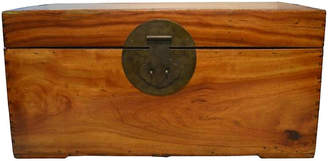 One Kings Lane Vintage Antique Blanket Chest Trunk - FEA Home
