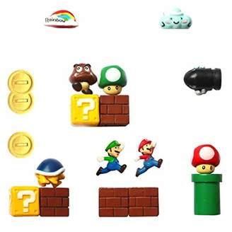 Super Mario Fridge Magnets - 18 PCS Refrigerator Magnets
