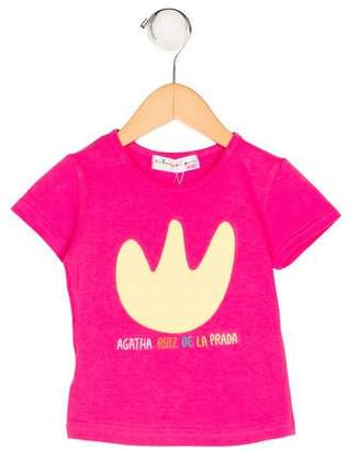 Agatha Ruiz De La Prada Girls' Short Sleeve Embroidered Top w/ Tags