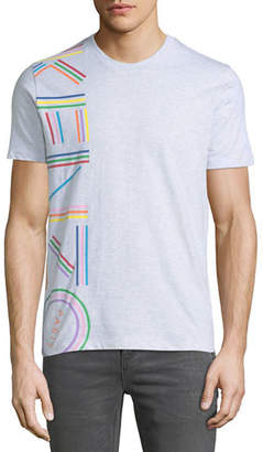 Kenzo Men's Vertical Rainbow Logo Short-Sleeve Crewneck T-Shirt