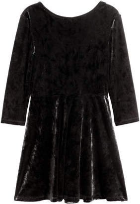 H&M Velour Dress - Black