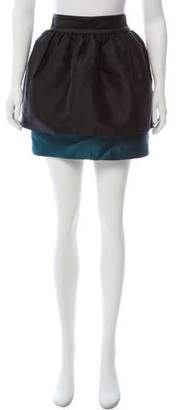 Thread Social Colorblock Mini Skirt
