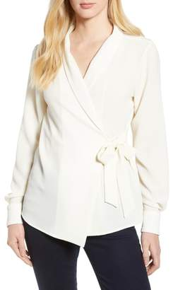 Bobeau Side Tie Wrap Top