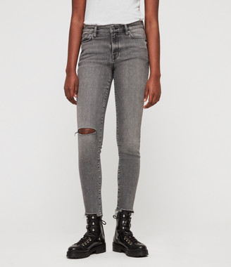 AllSaints Grace Destroy Ankle Jeans