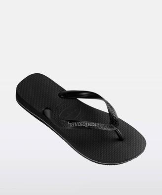 Havaianas Rubber Logo Thong Black Black/Grey