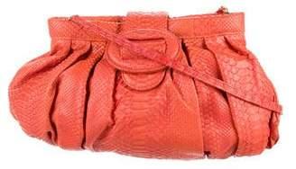 Carlos Falchi Fatto a Mano by Python Shoulder Bag