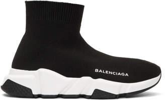 Balenciaga Black Speed Runners High-Top Sneakers