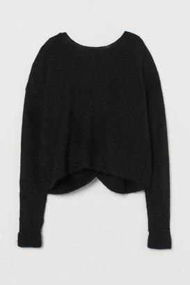 H&M Alpaca-blend Sweater - Black
