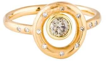 Lisa Des Camps 18K Diamond Celestial Cercle Charm Ring