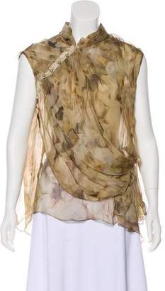 Nina Ricci Asymmetrical Silk Top