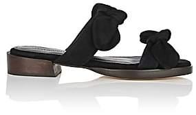 Mari Giudicelli Women's Betis Suede Slide Sandals-Black
