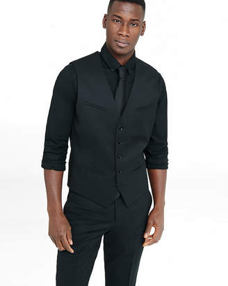 Express Black Wool Blend Suit Vest