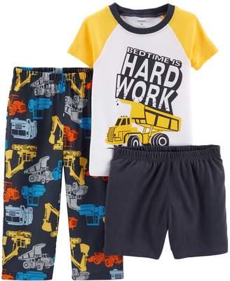 Carter's Toddler Boy Construction Trucks Top & Bottoms Pajama Set
