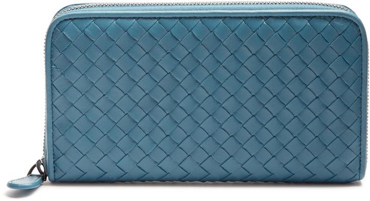 Bottega VenetaBOTTEGA VENETA Intrecciato zip-around leather wallet