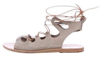 Ancient Greek Sandals Suede Lace-Up Sandals