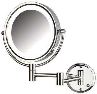 """The Jerdon HL88CLD 8.5"""" Led Lighted Wall Mount Direct Wire Makeup Mirror Bedding"""