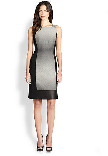 Lafayette 148 New York Penny Ombre Colorblock Dress