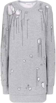 Faith Connexion Chain Trim Cut-Out Oversized Sweatshirt