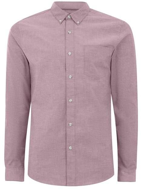 Buy Oxfordhemd im Ringer-Style, lila und weiß!