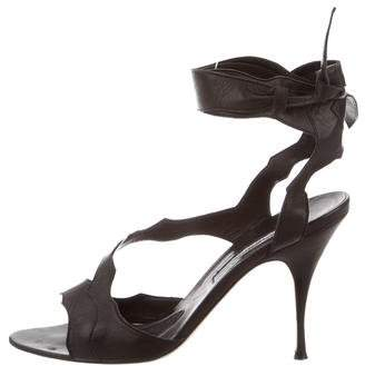 Brian Atwood Leather Ankle-Strap Sandals