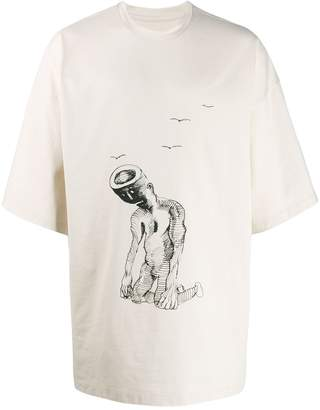 Oamc printed oversized T-shirt