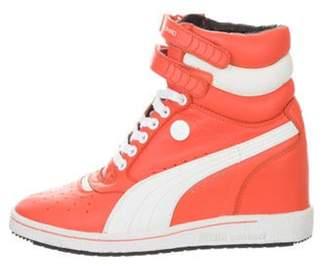 Puma by Mihara High-Top Sneaker Wedges Orange High-Top Sneaker Wedges