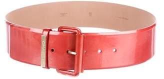 Chanel Patent Waist Belt