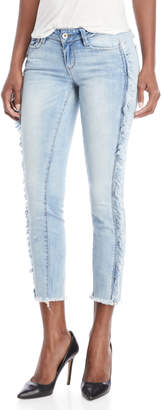 Dollhouse Frayed Side Mid-Rise Jeans