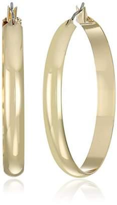 "Napier""Classics"" -Tone Large Click It Hoop Earrings"