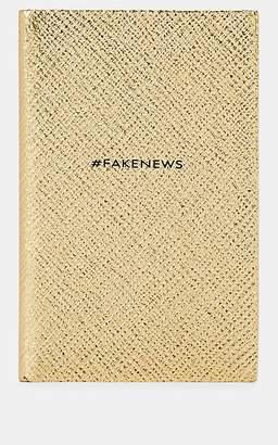 """Smythson #FakeNews"""" Panama Notebook - Gold"""