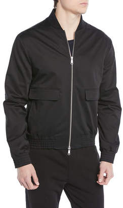 Vince Men's Flap-Pocket Cotton Bomber Jacket