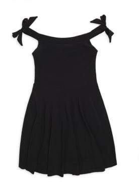 Un Deux Trois Girl's Tie Shoulder Skater Dress