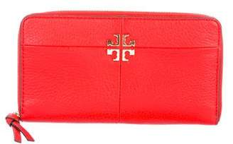 Tory Burch Logo Grained Leather Wallet