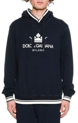 Dolce & Gabbana Men's Crown Logo Graphic Pullover Hoodie Sweater