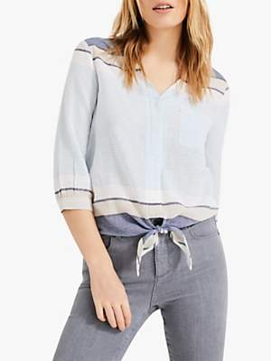 Phase Eight Isidora Tie Shirt, Chambray